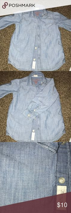 Denim shirt Toddler boys shirt size 2/3yrs old. 💫great condition💫 H&M Shirts & Tops Button Down Shirts