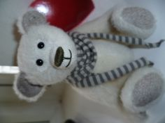 JABAKAT bear, hand stiched using mohair