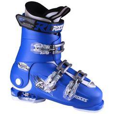 Roces 2016 Idea Adjustable Blue/White Kids Ski Boots 22.5-25.5