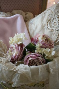 Vintage lace and flowers.....