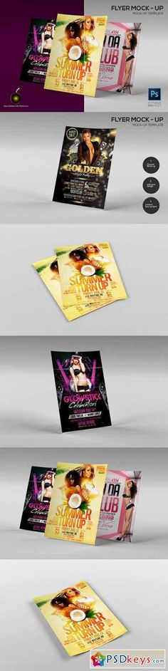 A4 Flyer Mock-up template (5 PSD) 925892