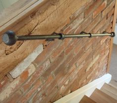Wrought iron banister stair rail