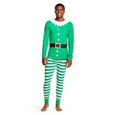 Men's Holiday Elf Pajama Set