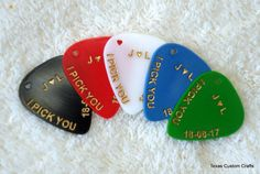 Personalized Guitar Pick/Plectrum by texascustomcrafts on Etsy