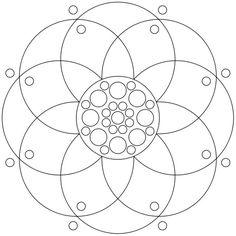 Mandala-Ausmalbild Nr. 73