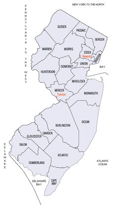 Map Of New Jersey Nj County Map New Jersey State Map