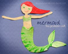 Printable Mermaid Craft II                                                                                                                                                                                 More
