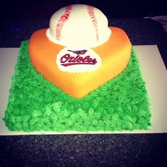 Orioles groomsmen cake. Made by Tannicakes at tanniboo@gmail.com #Tannicakes