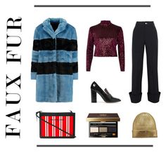 """""""Faux Fur Coats"""" by mariannamic on Polyvore featuring Marc by Marc Jacobs, Jacquemus, River Island, Iris & Ink, Balenciaga, Bobbi Brown Cosmetics, StreetStyle, Winter and fauxfurcoats"""