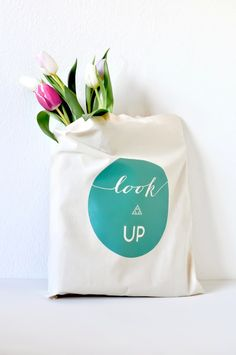 DIY Iron-On Tote Bag | Oh The Lovely Things, January 2013