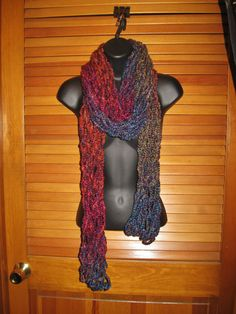 Dark Fading Colors Scarf  Long Multicolor by TheLittleBarntique