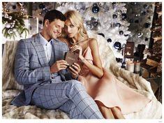 Sasha Knezevic Joins Wife Anja Rubik for Apart Christmas 2014 Campaign