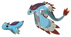 Fakemon: Glauqua (Water) and Hydranticus (Water/Flying).