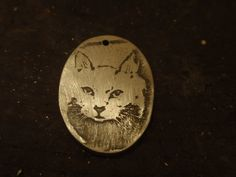 Metal Printmaking – Magda's photo etched kitty pendant. Printmaking, Workshop, Students, Jewelry Design, Design Ideas, Kitty, Jewellery, Pendant, Metal