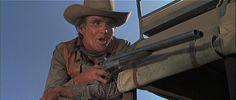 david carary as lamare dean    David Canary (1938-2015) holds a Double Barreled Shotgun as Lamar Dean ...In Hombre