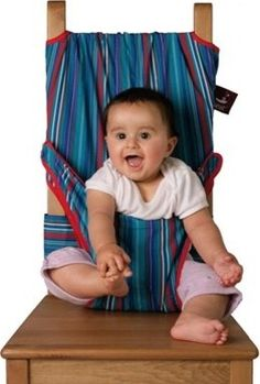 Travel chair for on plane, at restaurants etc...keeps baby strapped in and no germy highchair!