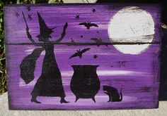Primitive Halloween Recipe Boxes box Witches Witchcraft Folk Art Black Cats Baking Hearth Witch's Kitchen Witch Pagan Wiccan Magic  $30.00