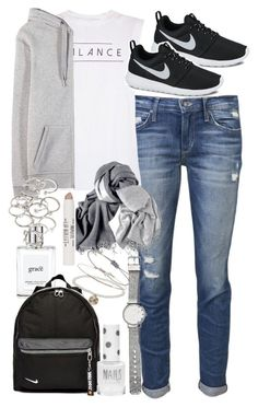"""""""Outfit for travelling"""" by ferned on Polyvore featuring Joe's Jeans, good hYOUman, T By Alexander Wang, philosophy, NIKE, Forever 21, Topshop and Witchery"""