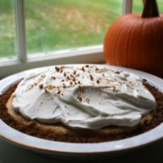 Pumpkin Ice Cream Pie with Chocolate-Almond Bark and Toffee Sauce # ...