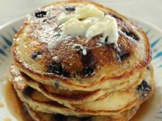 Trisha Yearwood's Blueberry Pancakes with sour cream - so delicious!