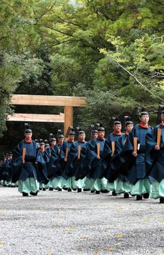 The priests of Ise Shrine, Japan