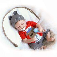 Full Body Silicone Reborn Sleeping Boy Doll Soft Vinyl Lifelike Newborn Baby for sale online Boy Baby Doll, Reborn Baby Boy Dolls, Reborn Babypuppen, Baby Doll Nursery, Newborn Baby Dolls, Cute Baby Dolls, Cute Babies, Newborn Babies, Silicone Reborn Babies