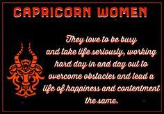 Capricorn Women.