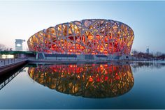 Birds nest stadium in Beijing, China