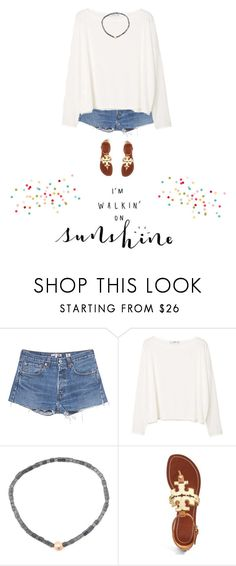 """Untitled #153"" by grayylancasterr ❤ liked on Polyvore featuring RE/DONE, MANGO, Luis Morais and Tory Burch"