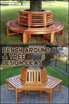 Wouldn't it be nice to have a relaxing bench around a tree in your own yard?