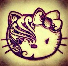 design hello kitty sanrio tribal hk