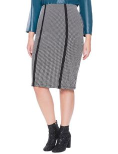 Textured Column Skirt from eloquii.com