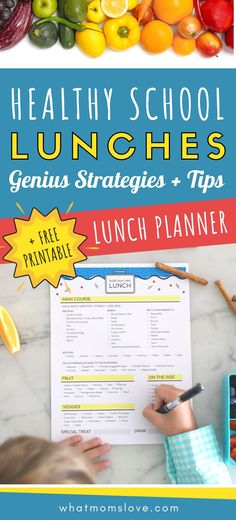 Tips and strategies to pack a healthy homemade school lunch for kids. Great ideas including bento boxes, clean eating guide, and a free printable lunch planner that will help your kids pack their OWN lunch! Healthy Kids, Eat Healthy, Healthy Living, Healthy Recipes, Healthy School Lunches, School Snacks, Clean Eating Guide, Eat Pretty, Eat The Rainbow