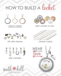 Build your own locket and wear what you love! Head over to http://www.southhilldesigns.com/kristencopeland to place an order or join my team!