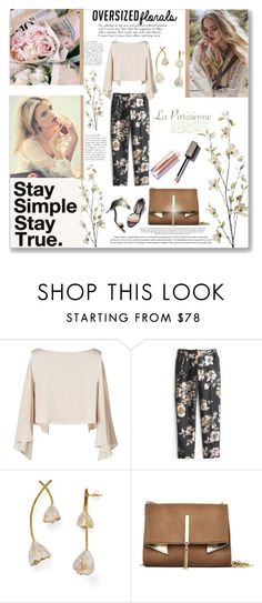 """Oversized Floral Pants"" by mood-chic ❤ liked on Polyvore featuring 3.1 Phillip Lim, J.Crew, Tory Burch, Nicole Miller, Pier 1 Imports, floralprint and oversizedflorals"