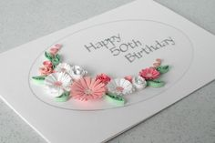 Paper quilling 60th diamond wedding anniversary by PaperDaisyCards
