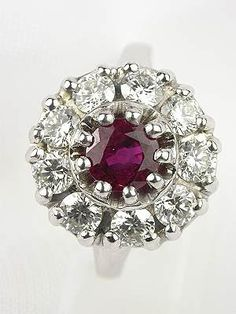 Ruby and Diamond Engagement Ring by Topazery, RG-2482
