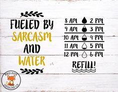 Water Intake Tracker, Water Bottle Tracker, Diy Tumblers, Water Fasting, Vinyl Cutting, Cricut Design, Sarcasm, Svg File, Silhouette