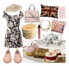 """""""Afternoon Tea and Crumpets in England"""" by juliasmiles ❤ liked on Polyvore featuring Wedgwood, Nicholas Kirkwood, Biba, Givenchy, Urban Decay, Adorabella, Miss Selfridge, Erickson Beamon and Jouer"""