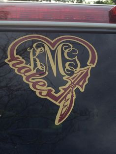 FSU Love Decal with or without monogram by SOSgifts on Etsy
