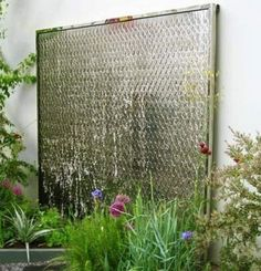 copper is an unusual material for a water wall used simply here it has an understated elegance outside spaces pinterest water walls water and walls