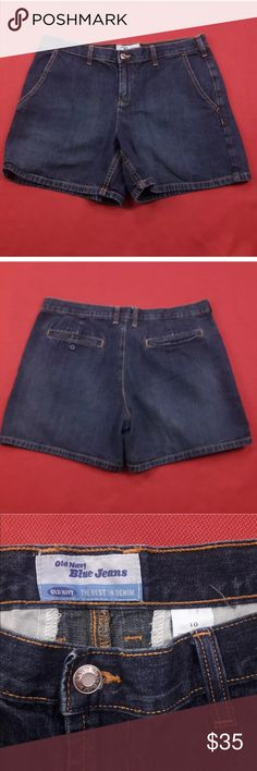 """Jean Shorts 🌷 Old Navy Jean Shorts  Women's Size: 10  Gently used with no flaws.  Measurements lying flat: Waist 17"""", Hips 21"""", Inseam 5"""", Front Rise 10"""", Back Rise 15"""".  Please, review pictures. You will get the item shown. Smoke & pet free home. Old Navy Shorts Jean Shorts"""