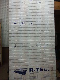 foam 'brick' wall