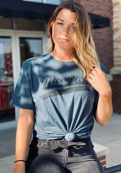 Missouri Slate Blue Peace Sign Short Sleeve T-Shirt - 22784859
