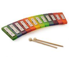 Fra Askeladen: Xylofon farvet. Diatonisk skala, 12 toner. L. 45 cm.