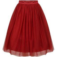 Eddie Burgundy ($33) ❤ liked on Polyvore featuring skirts, bottoms, red, ballet tutu skirt, tutu skirts, mid calf skirts, ballet skirt and midi skirt #balletskirt