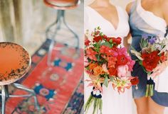 oriental-rugs-wedding-reception-decorations-bridesmaid-bouquets-red-blue