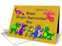 Anniversary on Dragon Appreciation Day January 16 card