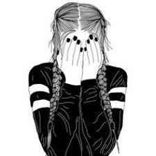 Resultado de imagen de dibujos de chicas tumblr a lapiz