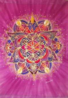 Mandala art meditation art spiritual art by HeavenOnEarthSilks